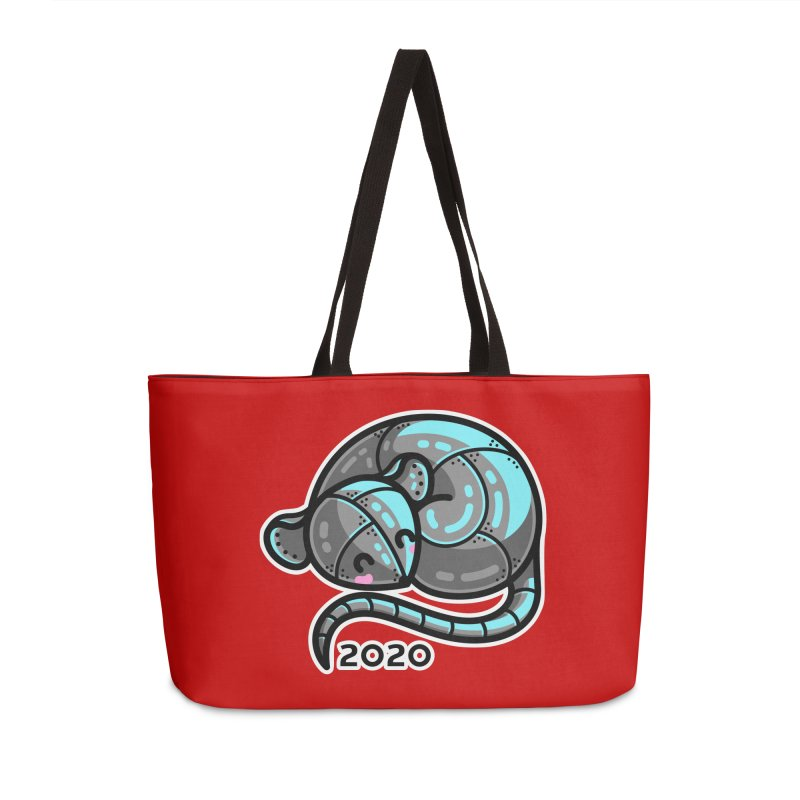 Kawaii Cute Curled Metal Rat 2020 Accessories Weekender Bag Bag by Flaming Imp's Artist Shop