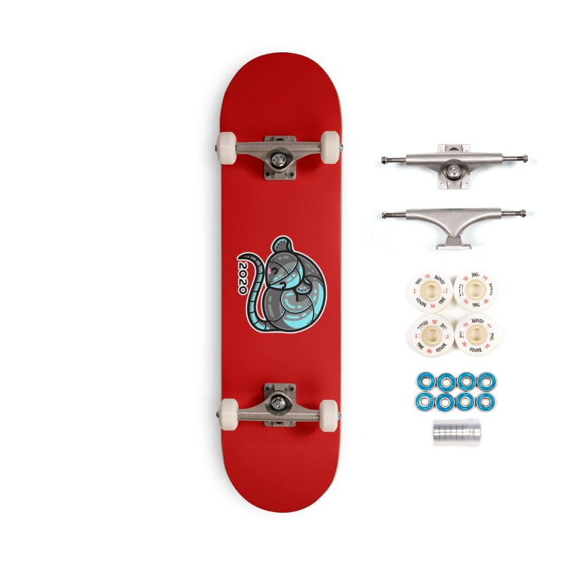 Kawaii Cute Curled Metal Rat 2020 Accessories Complete - Premium Skateboard by Flaming Imp's Artist Shop