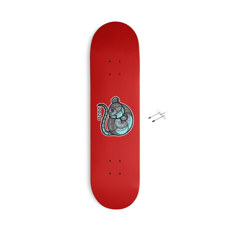 Kawaii Cute Curled Metal Rat 2020 Accessories Skateboard by Flaming Imp's Artist Shop