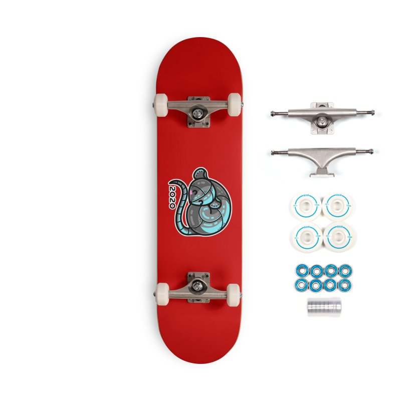 Kawaii Cute Curled Metal Rat 2020 Accessories Complete - Basic Skateboard by Flaming Imp's Artist Shop