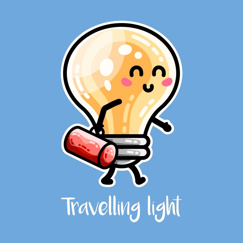 Kawaii Cute Travelling Light Pun Home Framed Fine Art Print by Flaming Imp's Artist Shop