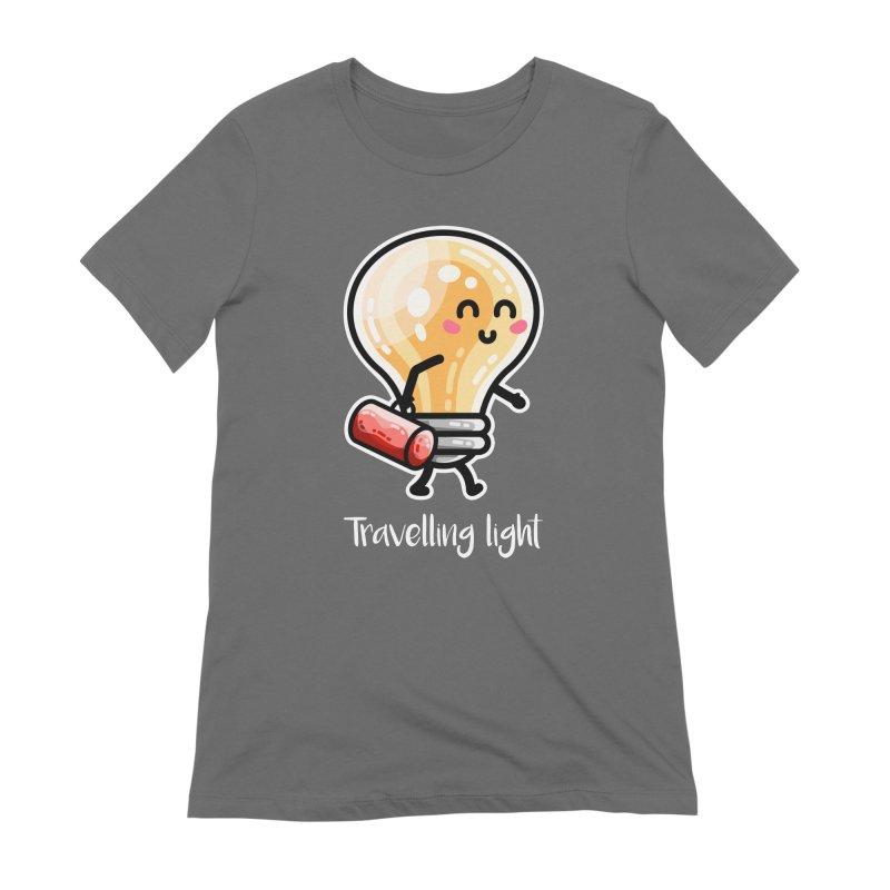 Kawaii Cute Travelling Light Pun Women's T-Shirt by Flaming Imp's Artist Shop