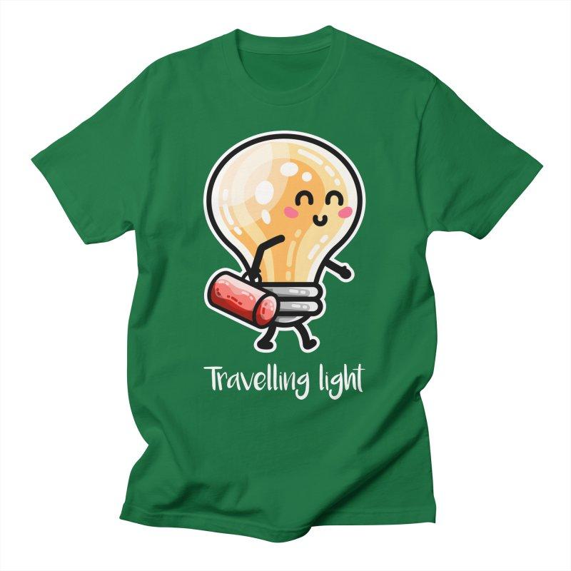 Kawaii Cute Travelling Light Pun Unisex T-Shirt by Flaming Imp's Artist Shop