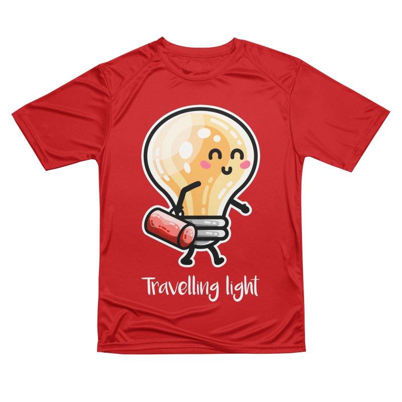 Kawaii Cute Travelling Light Pun Women's Performance Unisex T-Shirt by Flaming Imp's Artist Shop