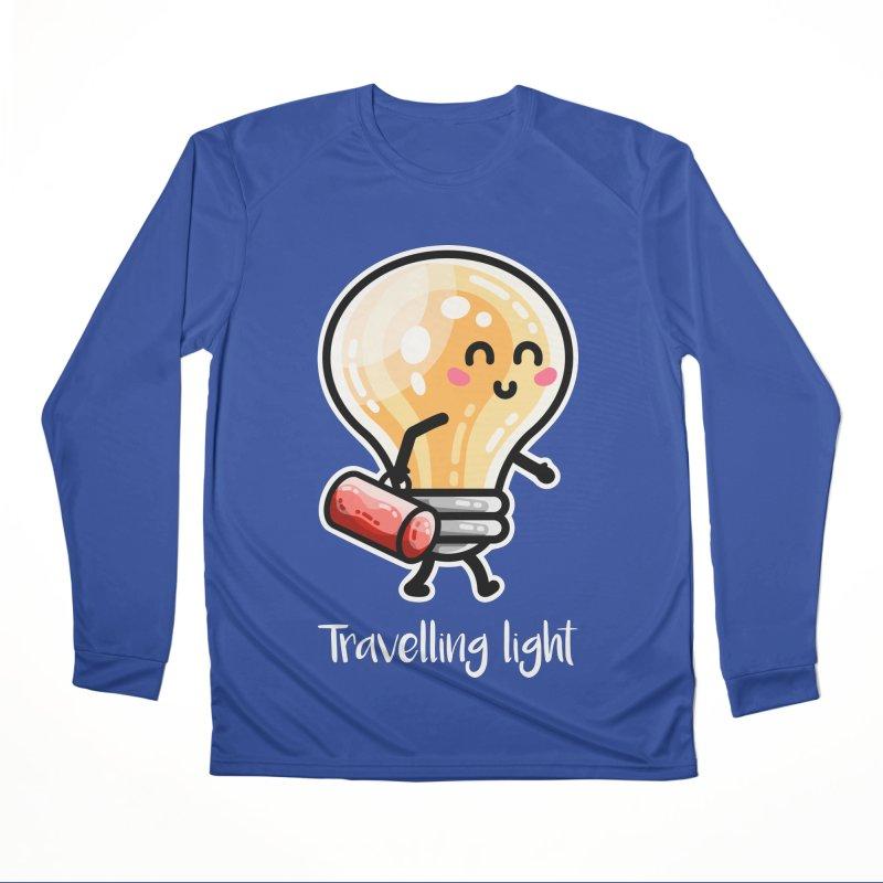 Kawaii Cute Travelling Light Pun Women's Performance Unisex Longsleeve T-Shirt by Flaming Imp's Artist Shop
