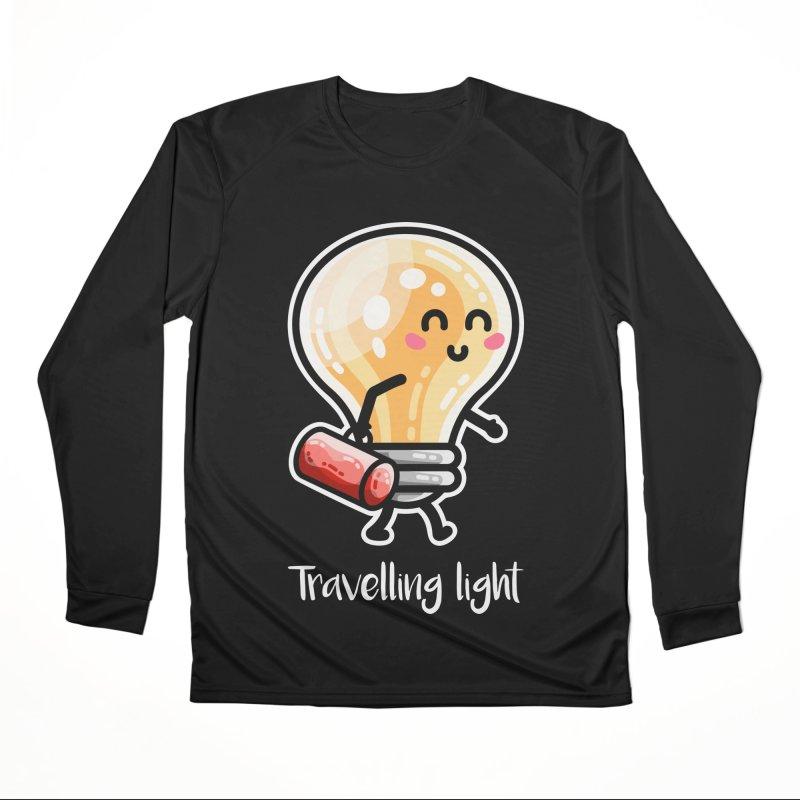 Kawaii Cute Travelling Light Pun Men's Performance Longsleeve T-Shirt by Flaming Imp's Artist Shop