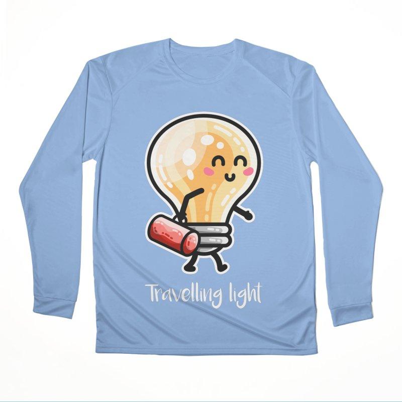 Kawaii Cute Travelling Light Pun Women's Longsleeve T-Shirt by Flaming Imp's Artist Shop