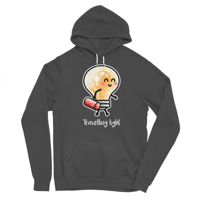Kawaii Cute Travelling Light Pun Men's Sponge Fleece Pullover Hoody by Flaming Imp's Artist Shop