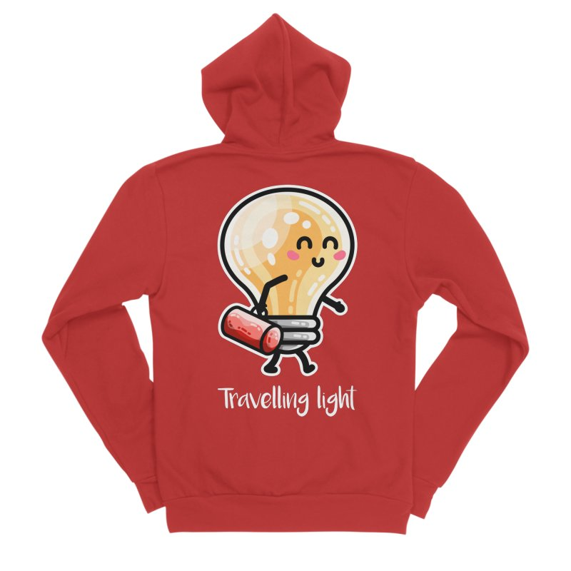 Kawaii Cute Travelling Light Pun Men's Zip-Up Hoody by Flaming Imp's Artist Shop
