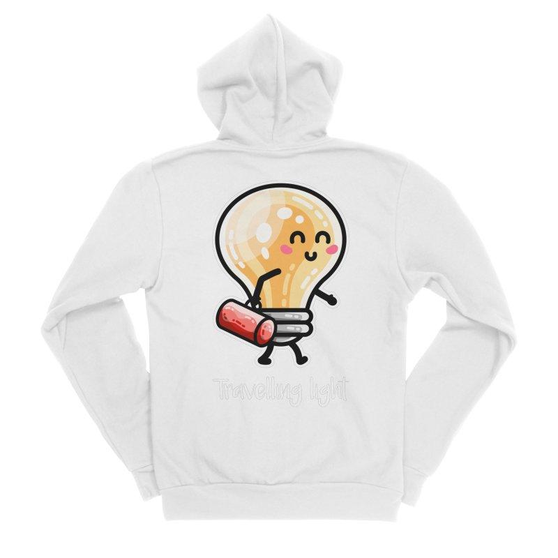 Kawaii Cute Travelling Light Pun Women's Sponge Fleece Zip-Up Hoody by Flaming Imp's Artist Shop