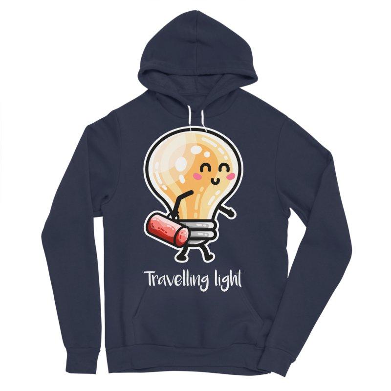 Kawaii Cute Travelling Light Pun Women's Sponge Fleece Pullover Hoody by Flaming Imp's Artist Shop