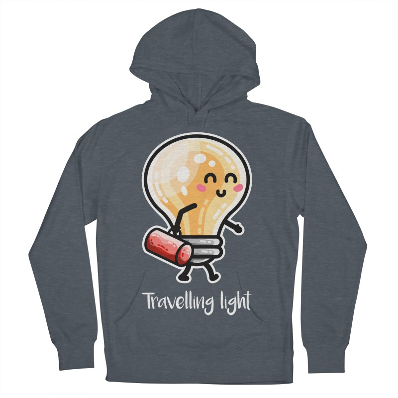 Kawaii Cute Travelling Light Pun Women's French Terry Pullover Hoody by Flaming Imp's Artist Shop