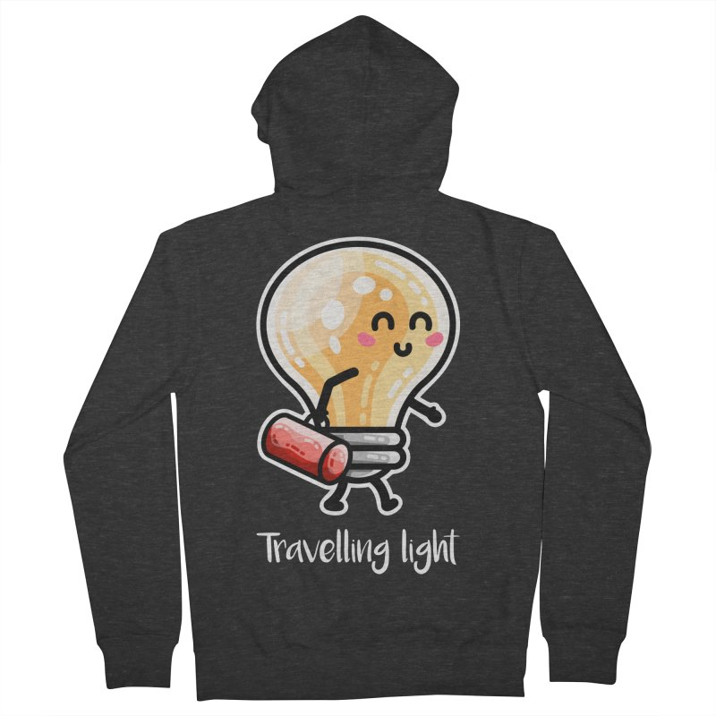 Kawaii Cute Travelling Light Pun Men's Zip-Up Hoody by Flaming Imp's Artist Shop