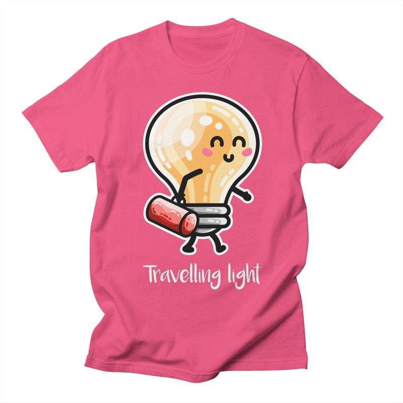 Kawaii Cute Travelling Light Pun Men's T-Shirt by Flaming Imp's Artist Shop