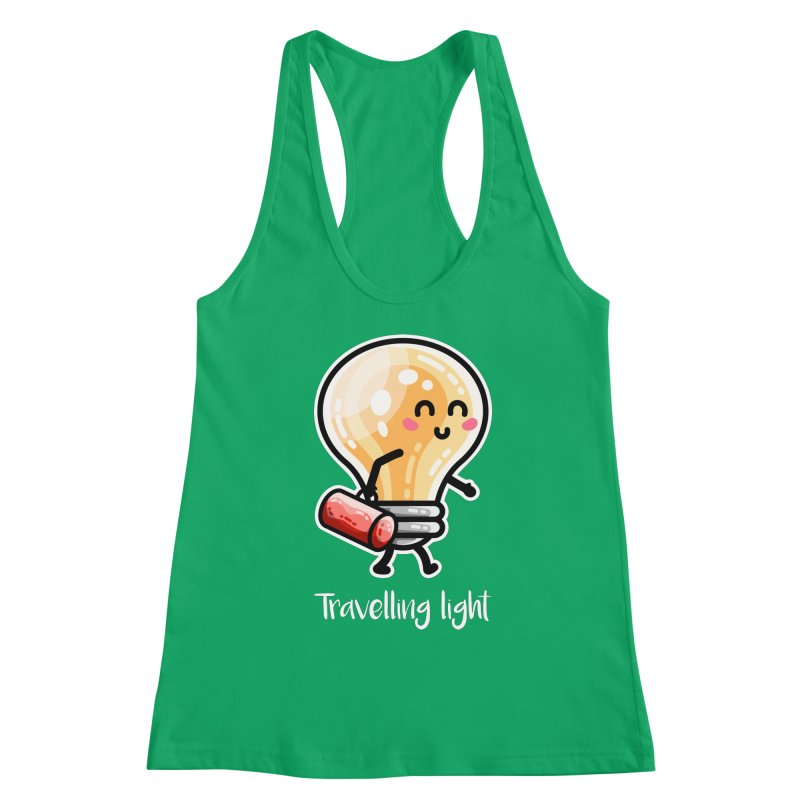 Kawaii Cute Travelling Light Pun Women's Tank by Flaming Imp's Artist Shop