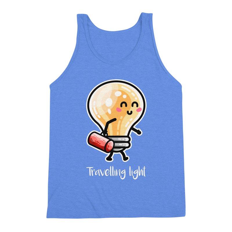 Kawaii Cute Travelling Light Pun Men's Tank by Flaming Imp's Artist Shop