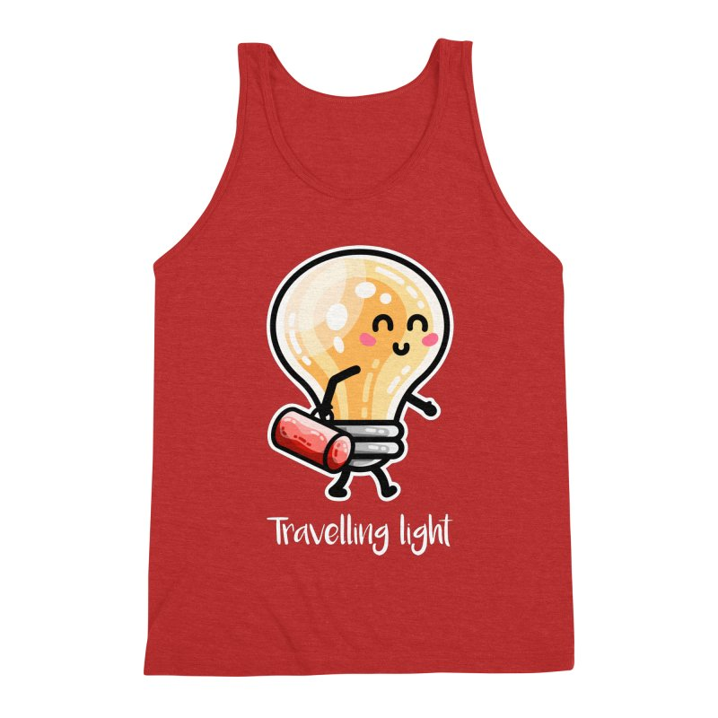 Kawaii Cute Travelling Light Pun Men's Tank by Flaming Imp's Artist Shop