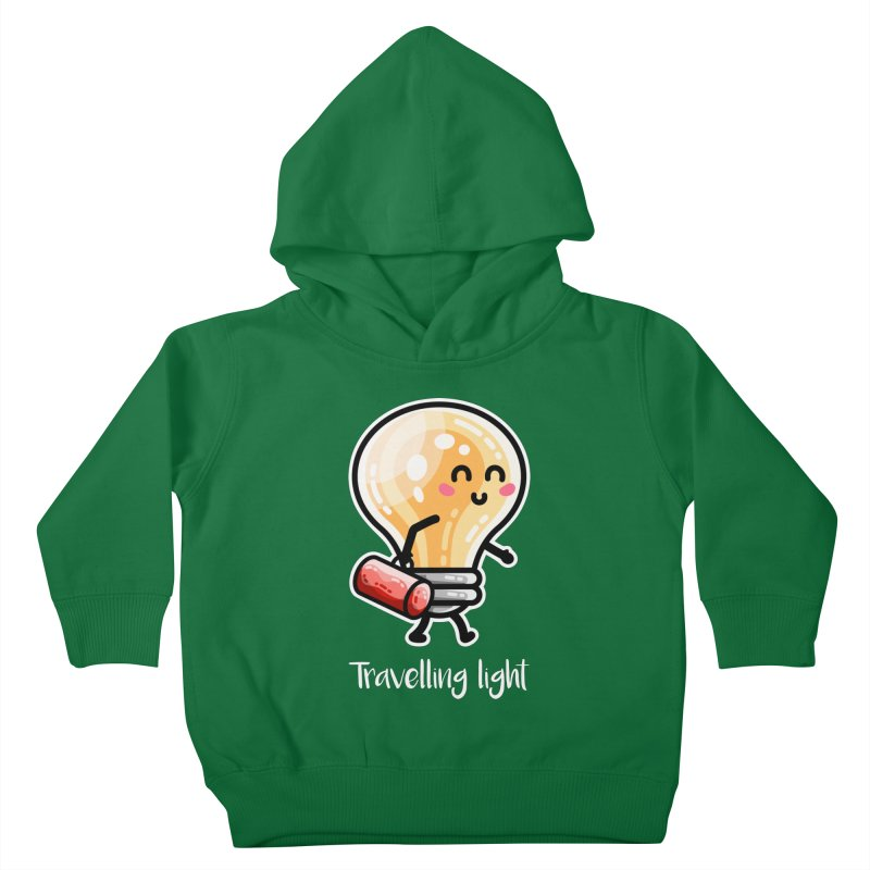 Kawaii Cute Travelling Light Pun Kids Toddler Pullover Hoody by Flaming Imp's Artist Shop
