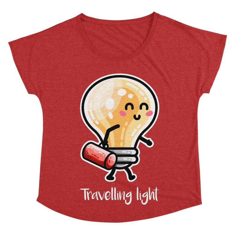 Kawaii Cute Travelling Light Pun Women's Scoop Neck by Flaming Imp's Artist Shop