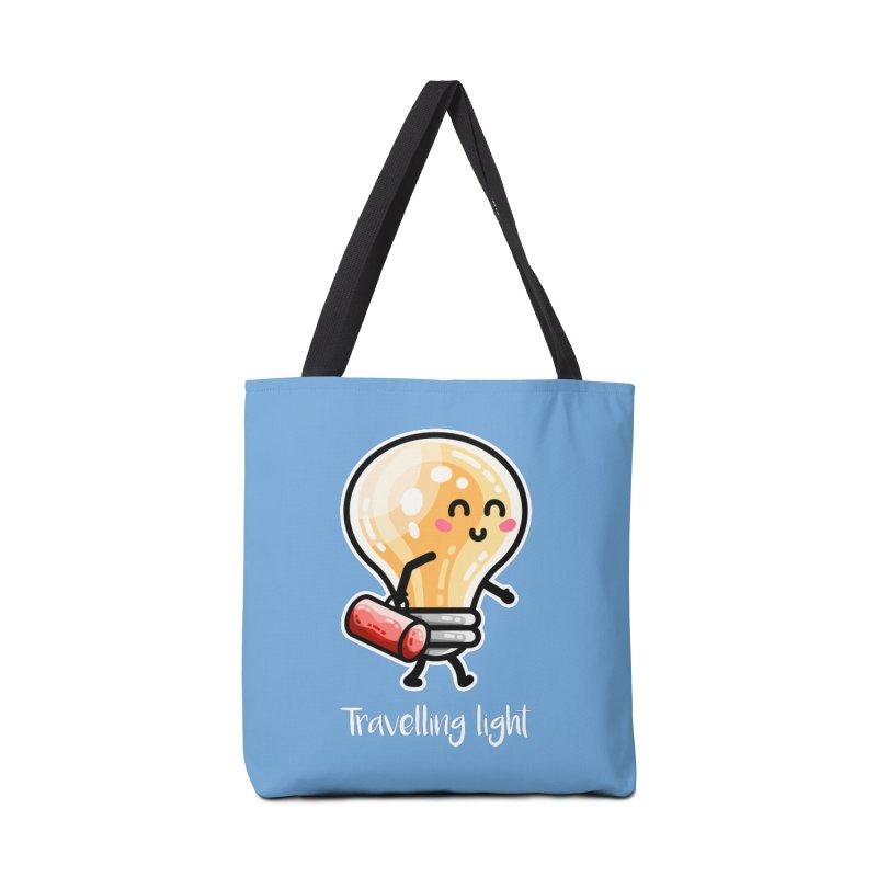 Kawaii Cute Travelling Light Pun Accessories Tote Bag Bag by Flaming Imp's Artist Shop