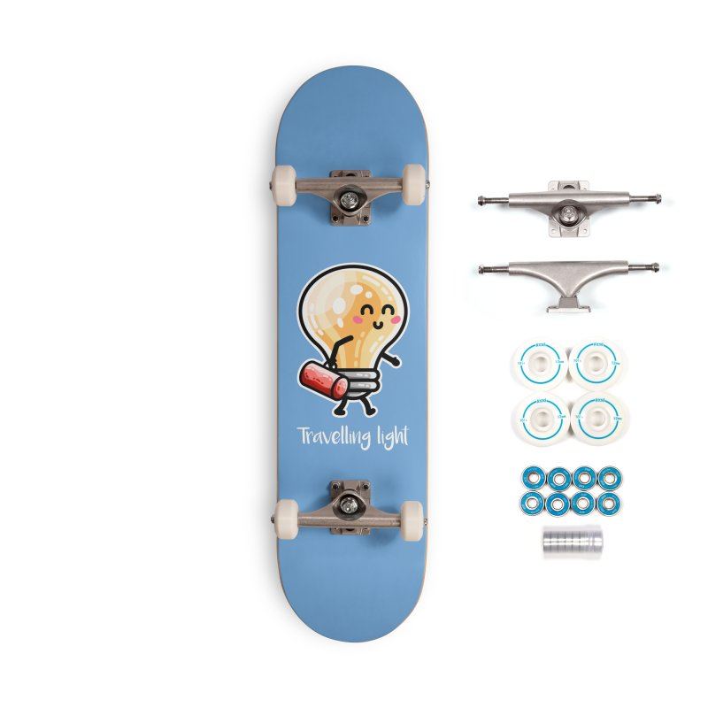 Kawaii Cute Travelling Light Pun Accessories Complete - Basic Skateboard by Flaming Imp's Artist Shop