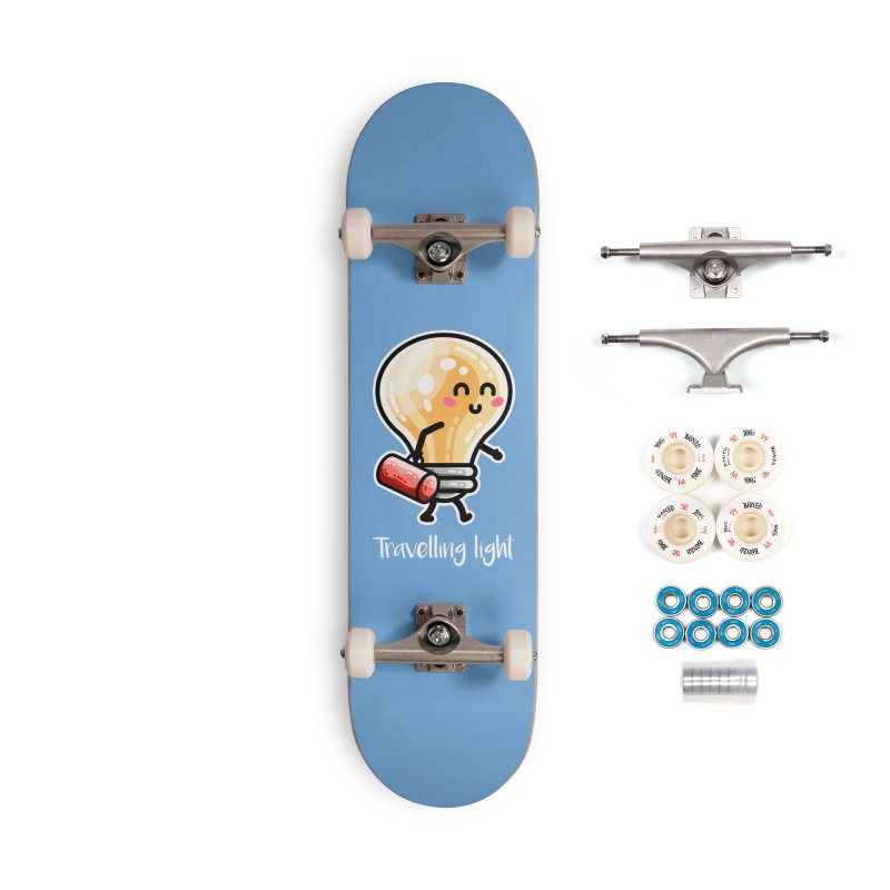 Kawaii Cute Travelling Light Pun Accessories Complete - Premium Skateboard by Flaming Imp's Artist Shop