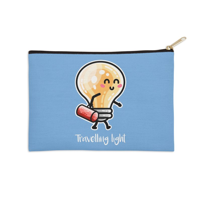 Kawaii Cute Travelling Light Pun Accessories Zip Pouch by Flaming Imp's Artist Shop
