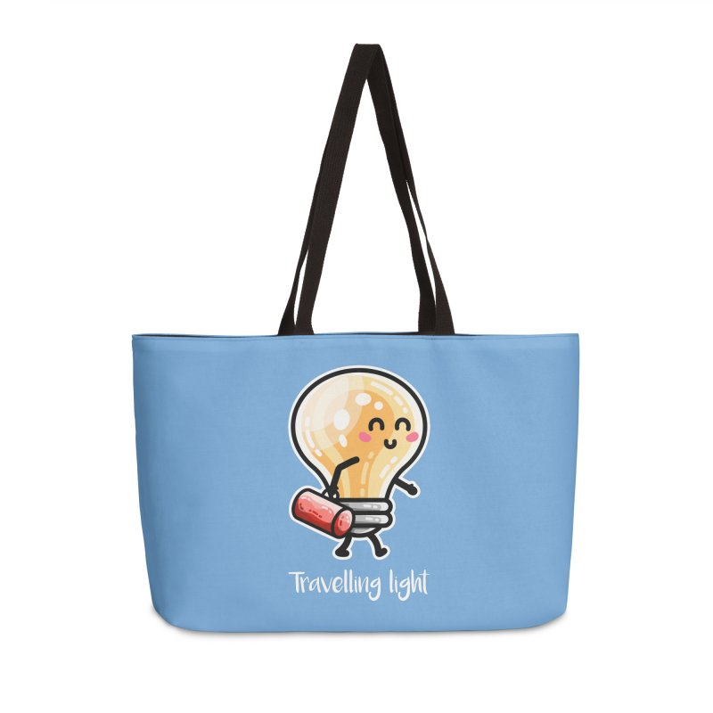 Kawaii Cute Travelling Light Pun Accessories Weekender Bag Bag by Flaming Imp's Artist Shop