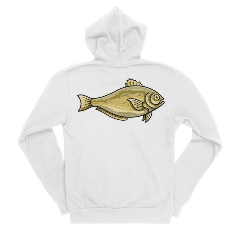 Carp Fish Men's Sponge Fleece Zip-Up Hoody by Flaming Imp's Artist Shop