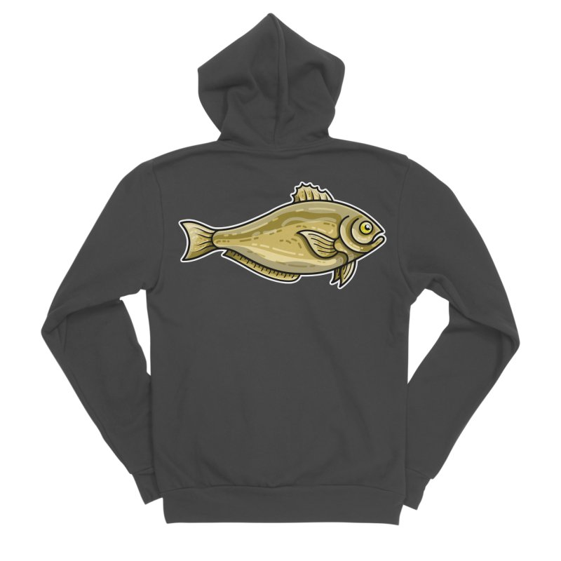 Carp Fish Men's Sponge Fleece Zip-Up Hoody by Flaming Imp's Artist Shop