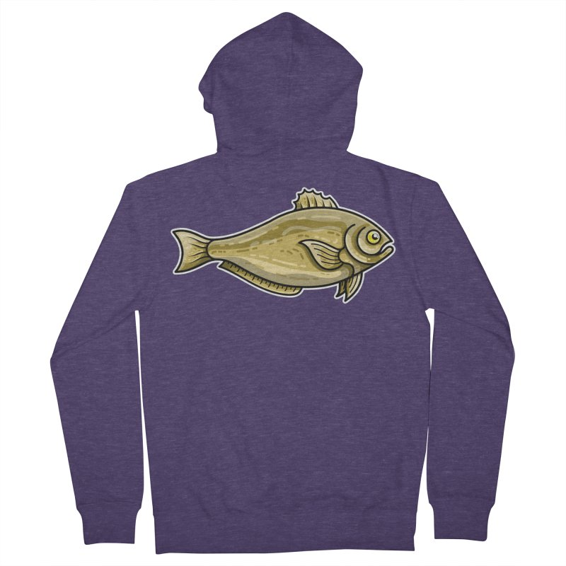 Carp Fish Men's French Terry Zip-Up Hoody by Flaming Imp's Artist Shop