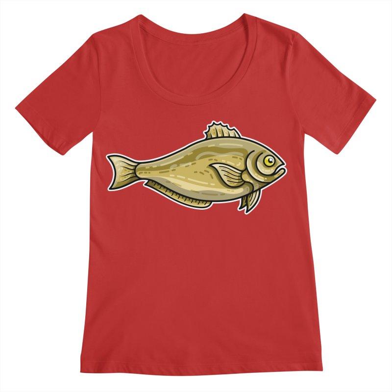 Carp Fish Women's Regular Scoop Neck by Flaming Imp's Artist Shop
