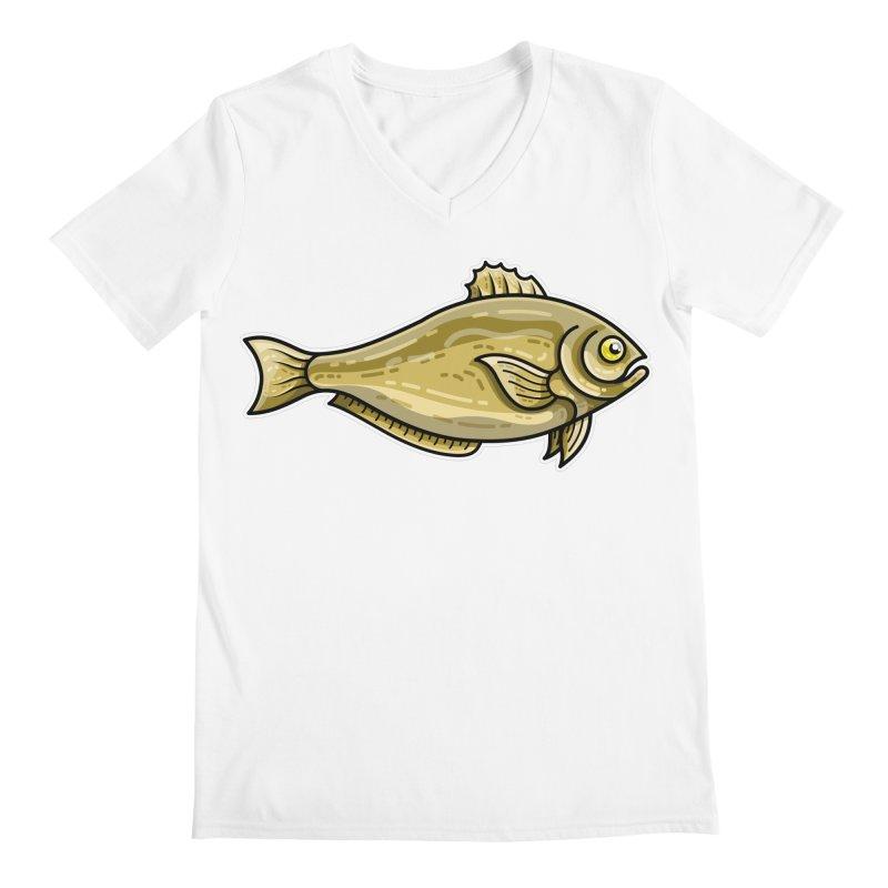 Carp Fish Men's Regular V-Neck by Flaming Imp's Artist Shop