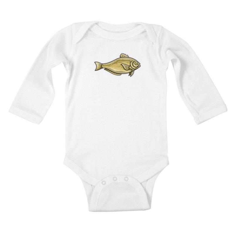 Carp Fish Kids Baby Longsleeve Bodysuit by Flaming Imp's Artist Shop