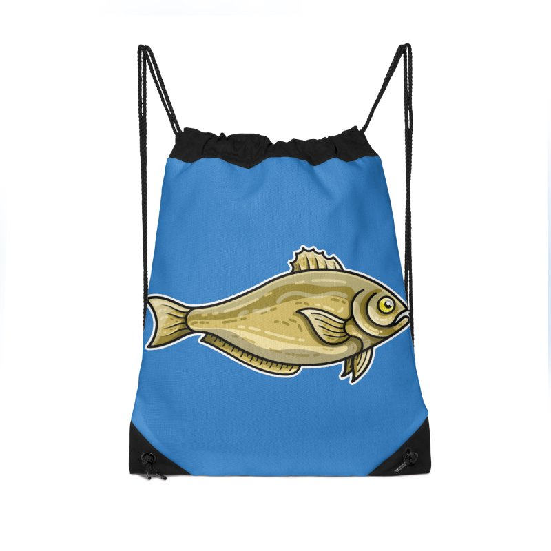 Carp Fish Accessories Drawstring Bag Bag by Flaming Imp's Artist Shop