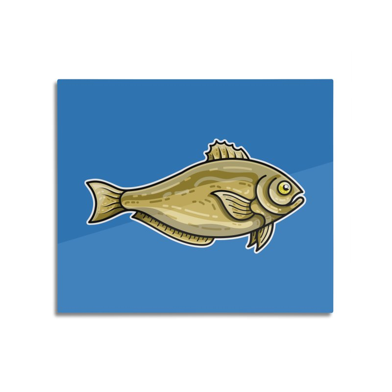 Carp Fish Home Mounted Aluminum Print by Flaming Imp's Artist Shop