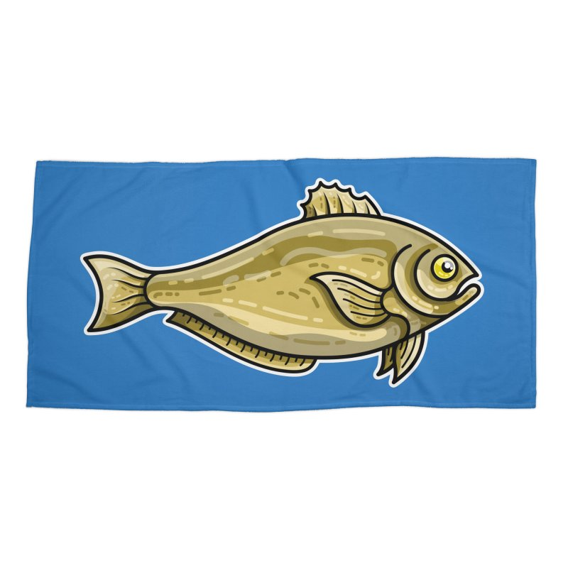 Carp Fish Masks + Accessories Beach Towel by Flaming Imp's Artist Shop