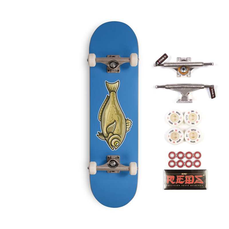 Carp Fish Accessories Skateboard by Flaming Imp's Artist Shop