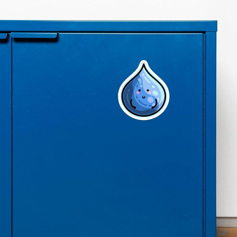 Kawaii Cute Water Droplet / Tear / Rain Accessories Magnet by Flaming Imp's Artist Shop