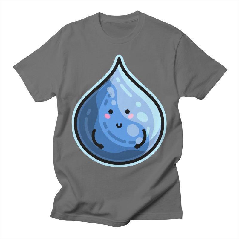 Kawaii Cute Water Droplet / Tear / Rain Unisex T-Shirt by Flaming Imp's Artist Shop