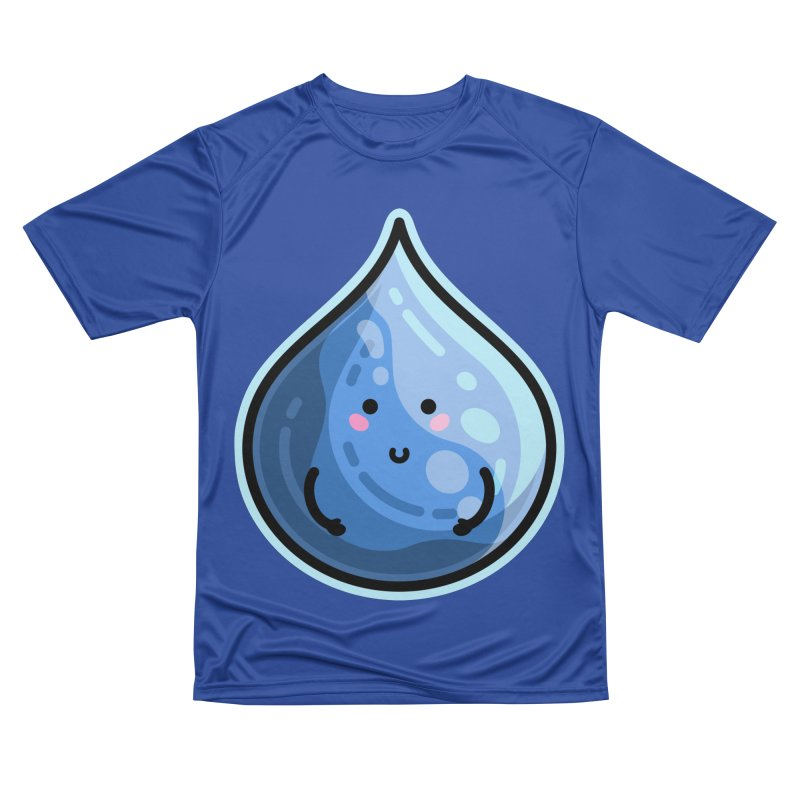 Kawaii Cute Water Droplet / Tear / Rain Men's Performance T-Shirt by Flaming Imp's Artist Shop