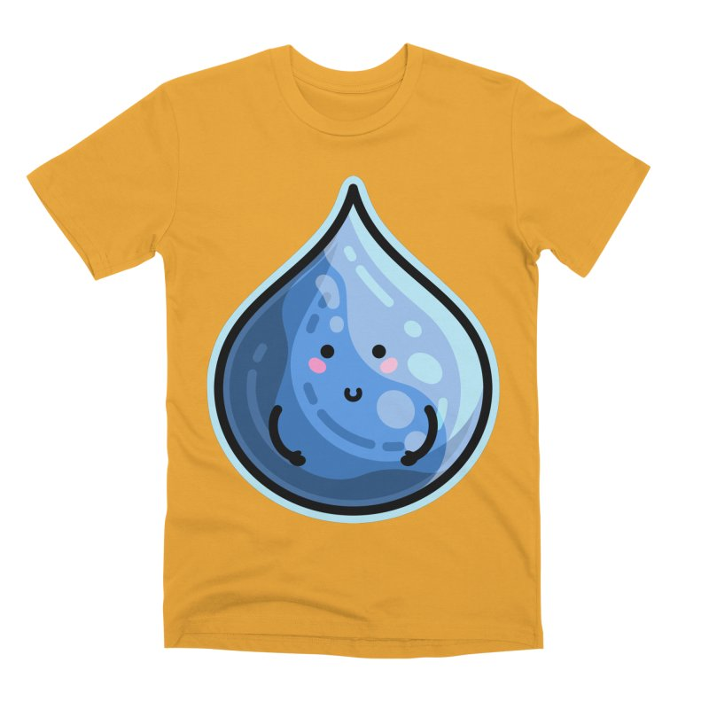 Kawaii Cute Water Droplet / Tear / Rain Men's T-Shirt by Flaming Imp's Artist Shop