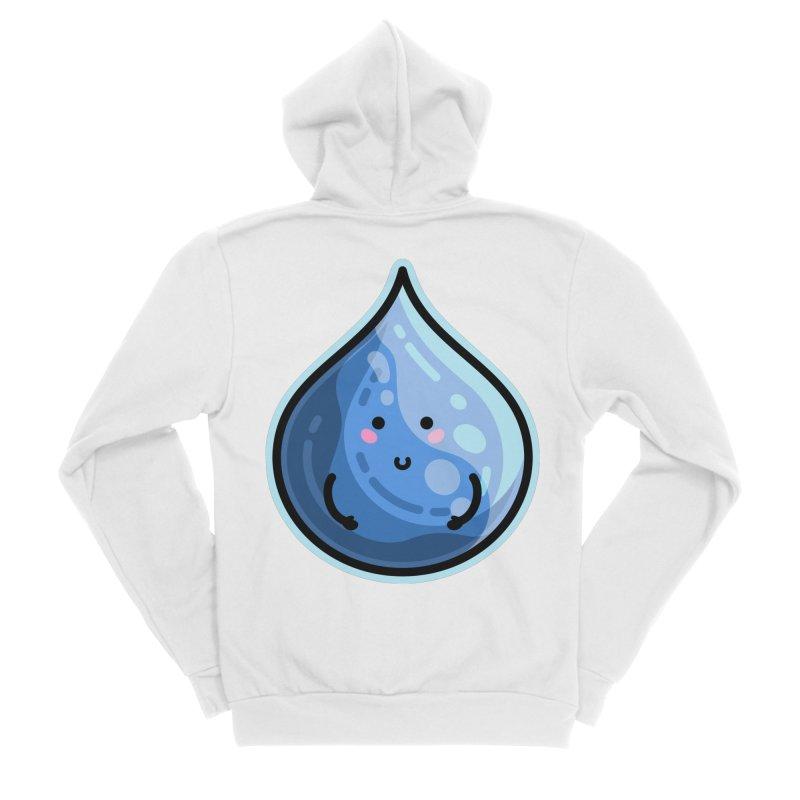 Kawaii Cute Water Droplet / Tear / Rain Women's Zip-Up Hoody by Flaming Imp's Artist Shop
