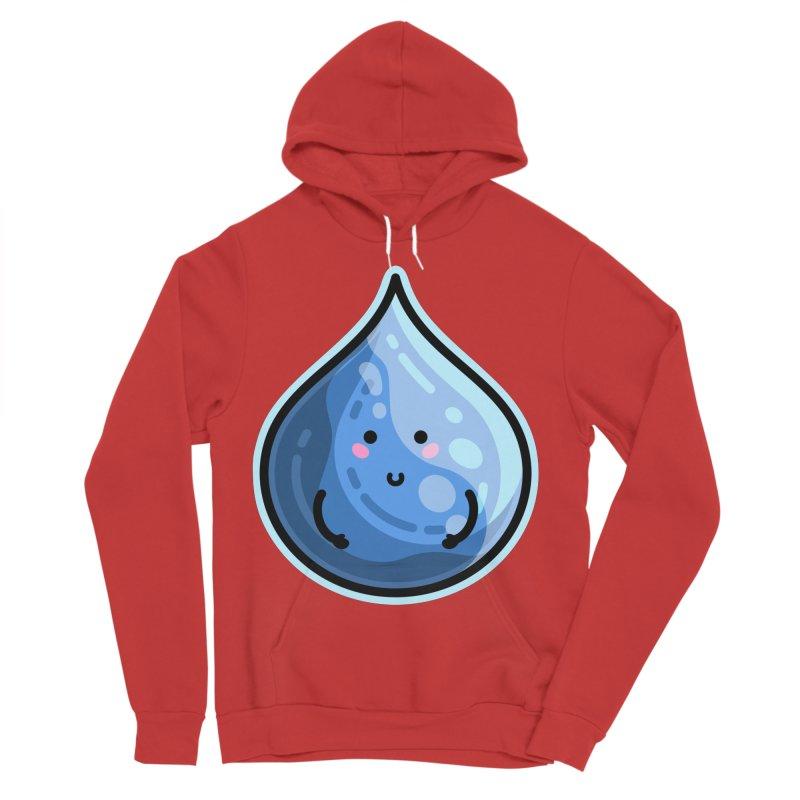 Kawaii Cute Water Droplet / Tear / Rain Women's Sponge Fleece Pullover Hoody by Flaming Imp's Artist Shop
