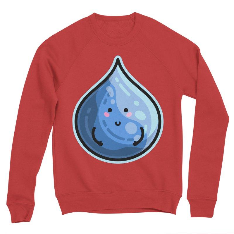 Kawaii Cute Water Droplet / Tear / Rain Men's Sponge Fleece Sweatshirt by Flaming Imp's Artist Shop