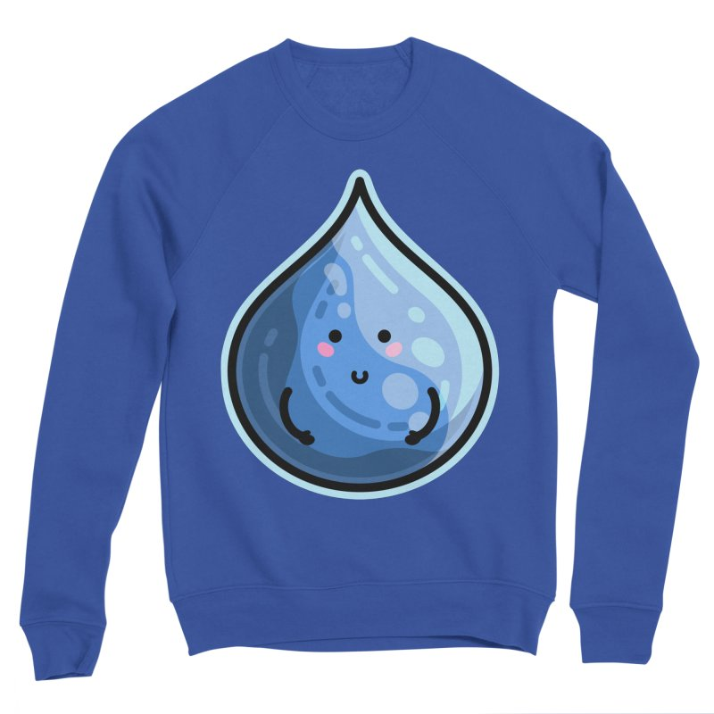 Kawaii Cute Water Droplet / Tear / Rain Fitted Sweatshirt by Flaming Imp's Artist Shop