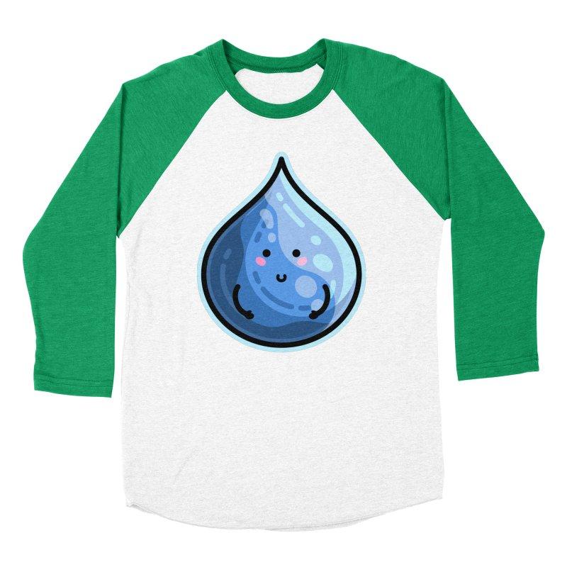 Kawaii Cute Water Droplet / Tear / Rain Fitted Longsleeve T-Shirt by Flaming Imp's Artist Shop