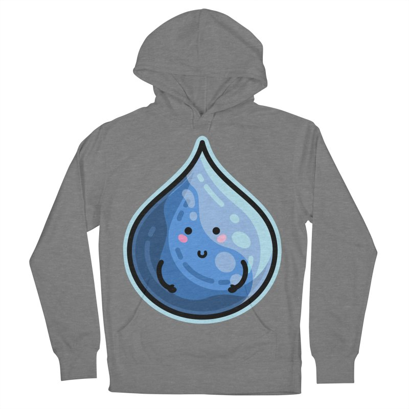 Kawaii Cute Water Droplet / Tear / Rain Men's French Terry Pullover Hoody by Flaming Imp's Artist Shop