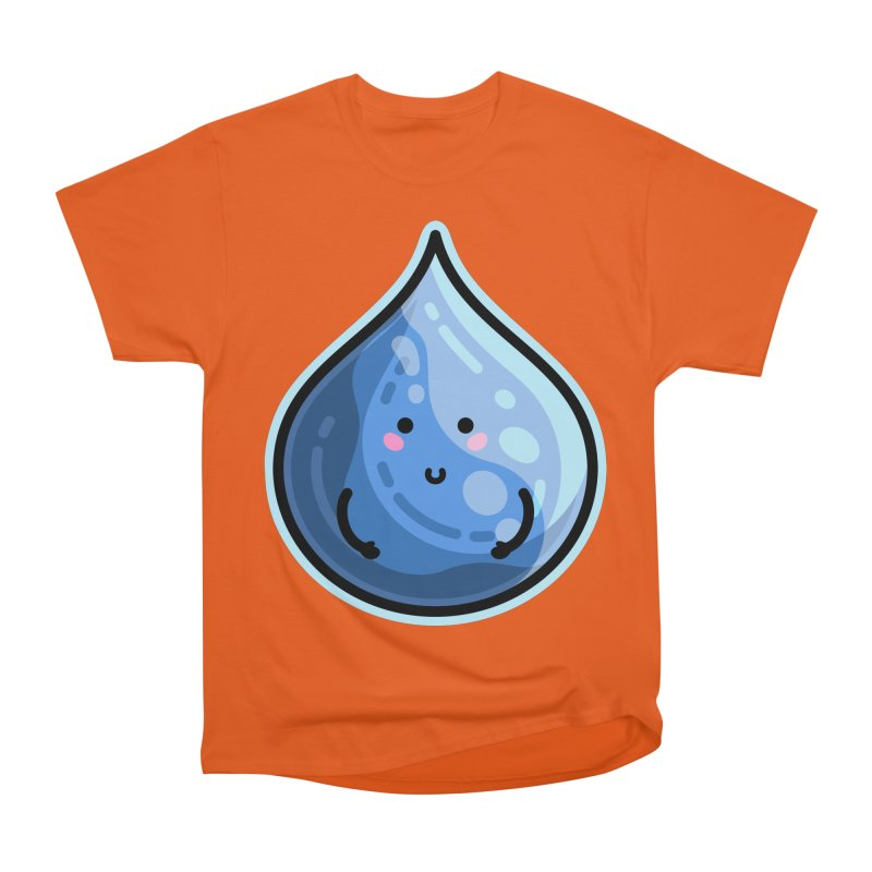 Kawaii Cute Water Droplet / Tear / Rain Women's T-Shirt by Flaming Imp's Artist Shop