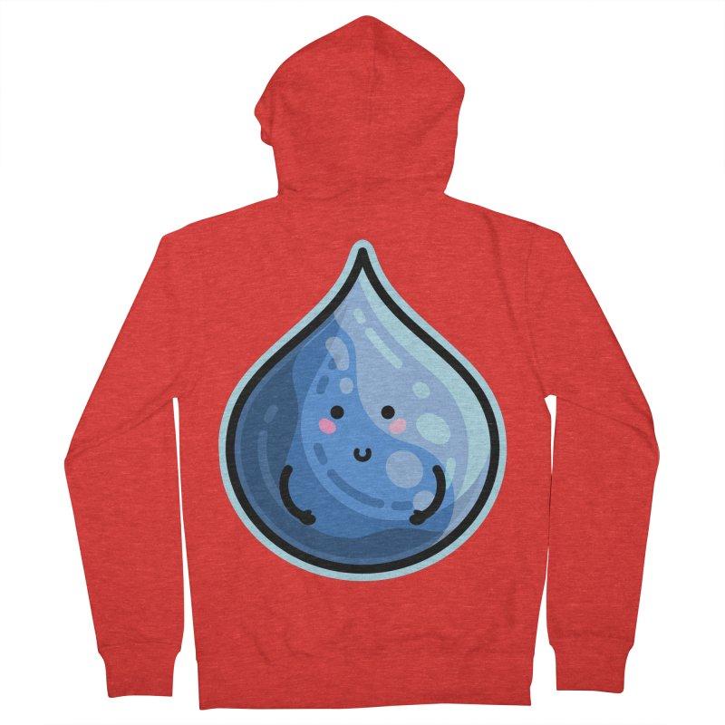 Kawaii Cute Water Droplet / Tear / Rain Fitted Zip-Up Hoody by Flaming Imp's Artist Shop